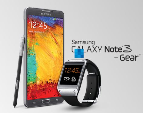 Brand New Cheap Samsung Galaxy Note® 3+Gear White(Black) Factory